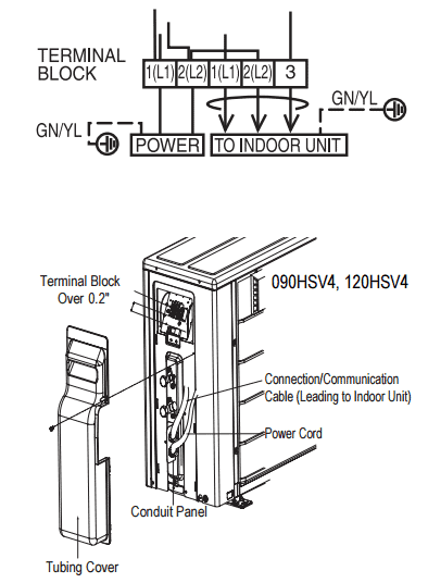 electrical specs for installing ductless mini-splits ... mini split wiring diagram