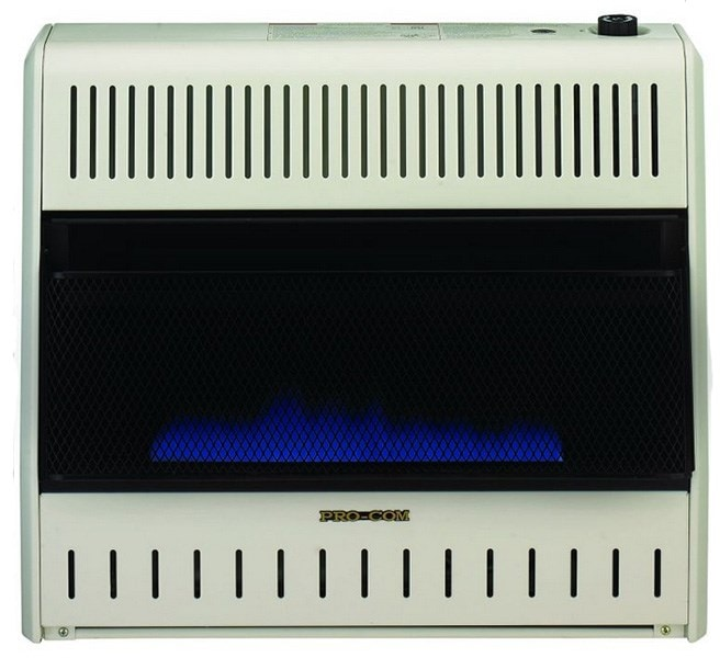 Image of ProCom MNSD300TBABB 30000 BTU Vent Free Blue Flame Thermostat Heater