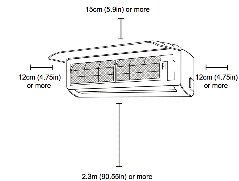 ductless ac mini split installation  how to install  diy   placement
