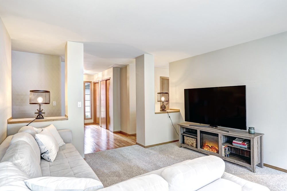 Image of electric fireplace in living room