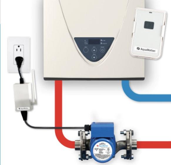 AquaMotion AMH1K-RODRN On-Demand Hot Water Recirculation Pump